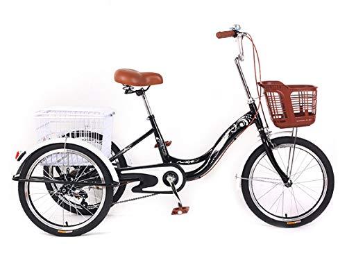MZPWJD Dreirad Für Erwachsene Erwachsenen Dreirad Fahrrad Mit 3 Rädern Seniorenrad Lastenfahrrad 20