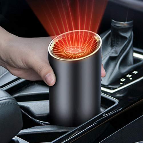 Oulian Auto Heizung, 12V 1500W 2-in-1 Tragbar Auto Scheibenenteiser Heizlüfter Entfroster Wärmer und Defroster für die Schneeräumung, Luft Reinigen, Fenster-Entfeuchter und Schnell Erhitzen