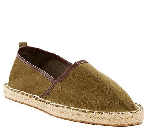 Bucco Jones Womens Fashion Vegan Slip-On Espadrille Flats, Khaki, Size 6, US
