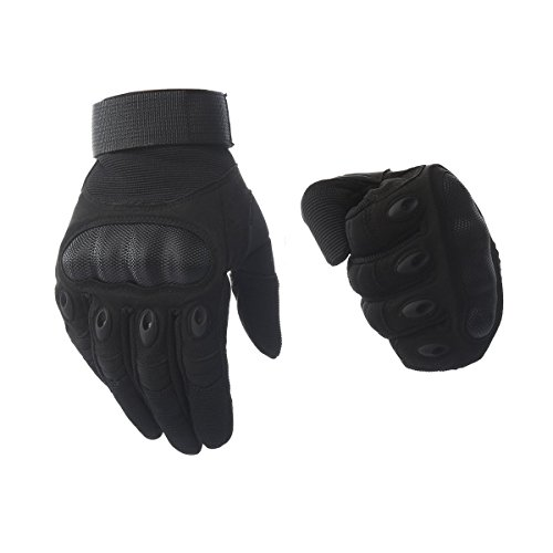 Kepeak Motorrad Handschuh Herren, Taktische Handschuhe Military, Vollfinger Handschuhe mit Gepolstertem Rückenseite für Airsoft, Militär, Paintball, Motorrad