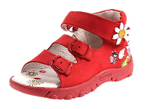 GIESSWEIN Badgastein Sandalen Ledersandalen Mädchen Schuhe rot