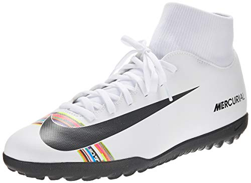 Nike Superfly 6 Club Tf, Scarpe da Calcetto Indoor Unisex-Adulto, Bianco (White/Black/White 000), 42.5 EU