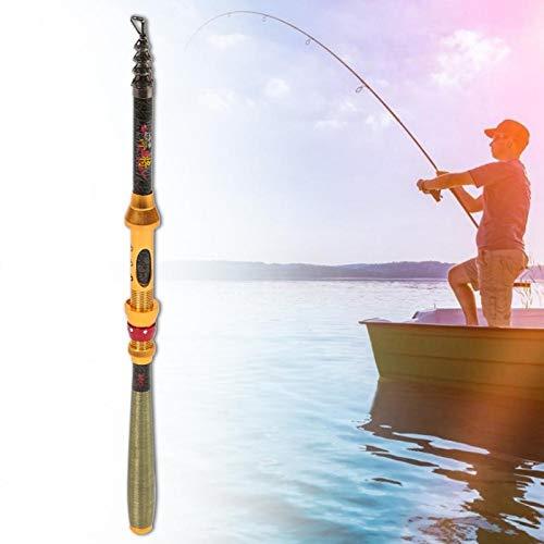 DAUERHAFT Caña de Pescar Mini Hecha de Material de Carbono, Pescar(3 Meters)