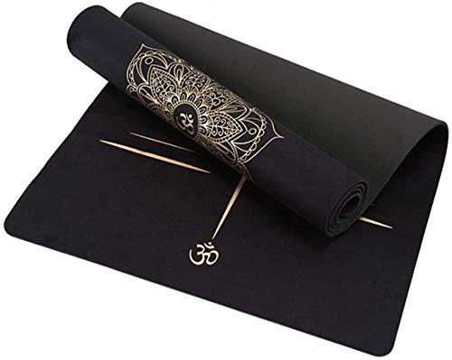 GDFEH Esterilla Yoga Pilates Mat Eco-Friendly Fitness Mat de la alfombra de yoga gruesa alfombra de entrenamiento de yoga para yoga, pilates y ejercicios de piso para acampar y entrenamiento Inicio Gi