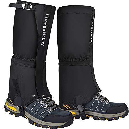 Songwin Outdoor Gamaschen,100% wasserdichte Einstellbare Gamaschen Verschleißfeste Beinschutz Gaiter für Outdoor-Hosen zum Wandern,Klettern und Schneewandern Gehende Kletternde Jagd-Schnee(1 Paar).