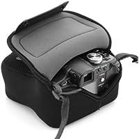 USA Gear Bolsa Funda Cámara Reflex - Protección duradera de Neopreno - para Canon EOS 100D, 400D, 1000D / Sony SX510 HS / Nikon Coolpix S6800 y mucho más