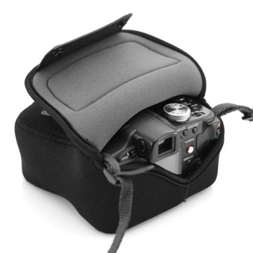 USA Gear Custodia Protettiva per Fotocamera Flex Armor Compact Funziona Sony Alpha a5100, Olympus Pen E-PL7, Panasonic DmC-GF8 più Micro Quattro Terzi Sistema di Fotocamere Selezionare obiettivi