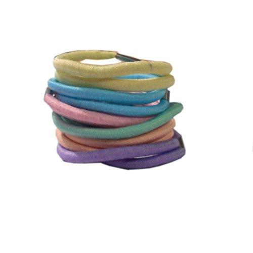 12 mixte Couleur pastel élastiques élastiques pour cheveux queue de cheval Bandes élastiques à