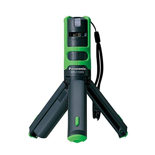 パナソニック(Panasonic) レーザーマーカー 墨出し名人 ケータイ 壁十文字タイプ 回転台 アルミケース 測量器用三脚取付金具付き グリーン BTL1101G