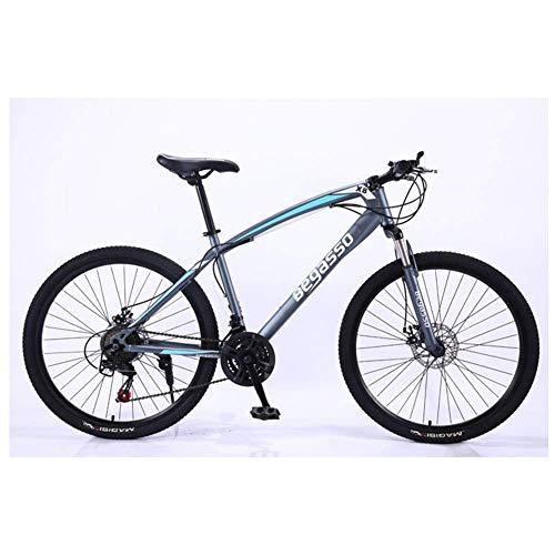 Mnjin Deportes al Aire Libre Bicicleta de montaña de Aluminio de 26 '' con Marco de 17 '' Freno de Disco 21-30 velocidades, suspensión Delantera