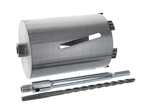 Diamant Bohrkrone Sechskant lang (200mm) Aufnahme und Zentrierbohrer Nutzlänge 180 mm Ø 132 mm Betonbohrkrone Kernbohrer