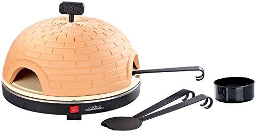 Cucina di Modena Pizza Dome: Premium Pizzaofen mit Terrakotta-Haube, Schamottenstein-Platte, Ø 40cm (Mini Steinofen Pizzaofen)