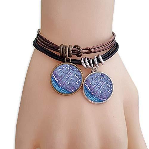 DIYthinker Damen Wissenschaft, Pflanze, Blau Zelle Muster Armband Doppel-Leder-Seil-Armband Paar Sets