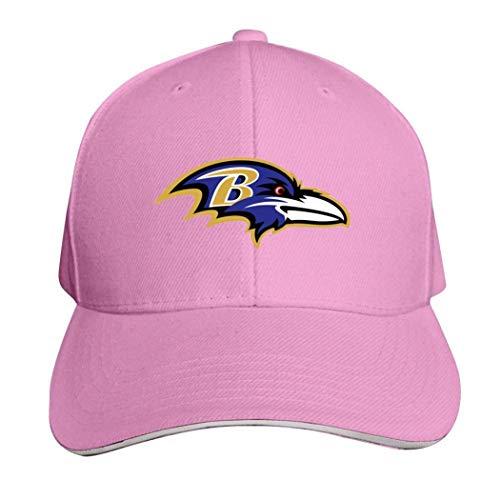 Baltimore Ravens Casquette Cappello Neutro Regolabile Camion Driver Cap, Uomo, 457PYZU-4QX-XJP, rosa, ONE_SIZE