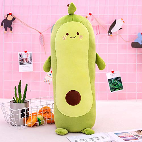 Pluche Cute Avocado Fruit Pillow Knuffel Lang Slaapkussen-Avocado Pillow_75cm
