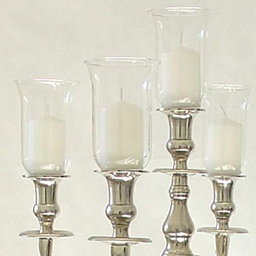 Dekowelten 13,5cm Großer Glasaufsatz Klar - Glas Teelichthalter f. Kerzenleuchter Teelichtaufsatz