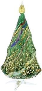 GlassOfVenice - Escultura de Cristal de Murano para árbol de Navidad, Color Verde