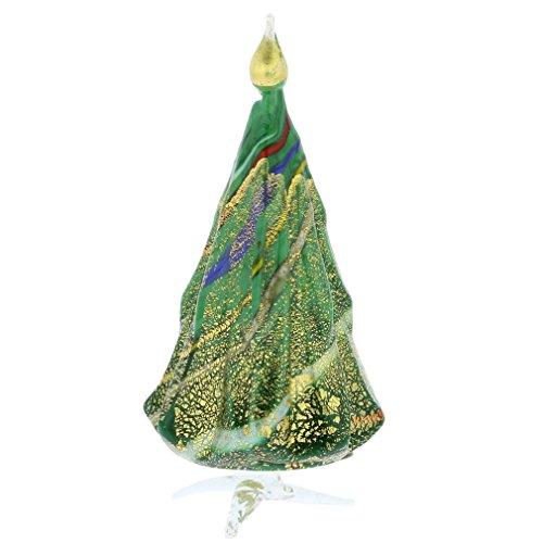 GlassOfVenice Murano Glass Christmas Tree Standing Sculpture - Green