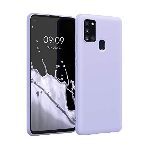 kwmobile Hülle kompatibel mit Samsung Galaxy A21s - Hülle Silikon - Soft Handyhülle - Handy Hülle in Pastell Lavendel