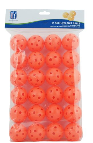 PGA TOUR 24 Air Flow Übungs Golfball, orange, PGAT138