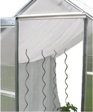 Gewächshaus Schattiernetz Hagelschutz Sonnenschutz - Breite 3,0m x Länge wählbar, weiß, 80% Schattierwert