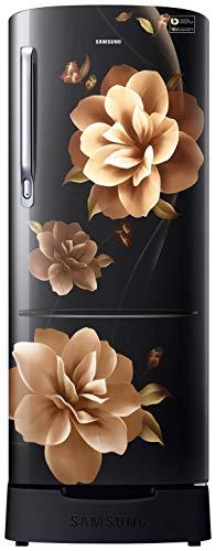 Samsung 215 L 4 Star Inverter Direct-Cool Single Door Refrigerator (RR22T383XCB/HL, Camellia Black, Base Stand with Drawer)
