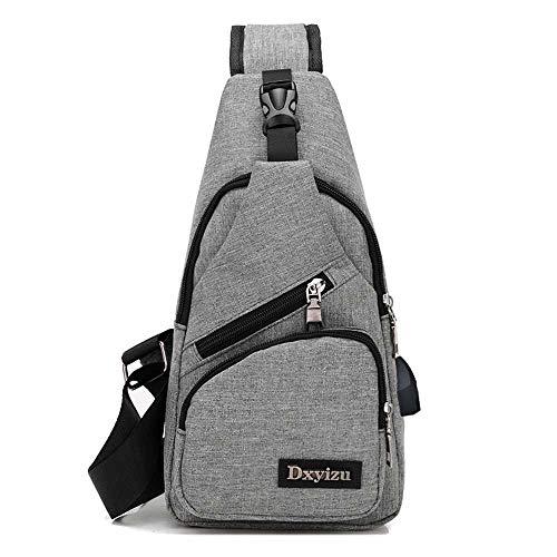 Herren Brusttasche mit einer Umhängetasche, USB-Ladeanschluss, wasserdicht, klein
