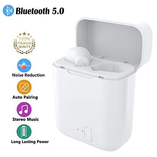 Auricolari wireless, cuffie auricolari Bluetooth 5.0, cuffie stereo HD con audio stereo Abbinamento automatico con custodia di ricarica Auricolari Bluetooth per tutti i dispositivi Bluetooth