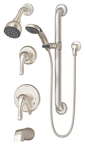 Symmons S-9606-PLR-STN Origins 1-Handle Tub & Shower Faucet, Satin Nickel