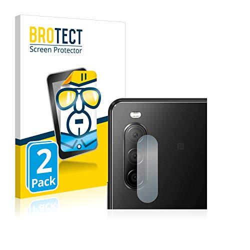 BROTECT Schutzfolie kompatibel mit Sony Xperia 10 II (nur Kamera) (2 Stück) klare Displayschutz-Folie