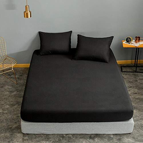Bonenjoy Funda de colchón 160 * 200 Rojo Vino Color sólido para sábana Individual/Queen/King Funda de Almohada Drap Housse 200x220x25cm type5