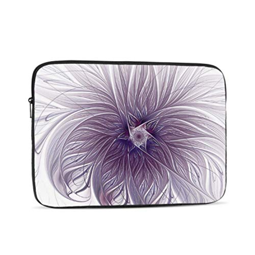 Cover MacBook Pro Purple Lavender Wisps White Fractal Mac Book Accessories Multi-Color & Size Choices10/12/13/15/17 Inch Computer Tablet Briefcase Carrying Bag