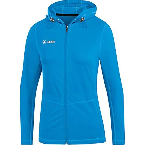 JAKO Run 2.0 Veste à Capuche Femme, Bleu, Taille 38
