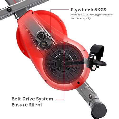 Ultrasport F-Bike 700BS Pro Heimtrainer mit Trainingscomputer und Handpulssensoren - 5
