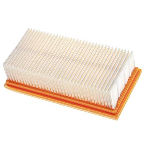 vhbw Filtro plisado plano compatible con Nilfisk Attix 33-2H PC, 33-2L IC seco y húmedo - Filtro motor aire refrigerante