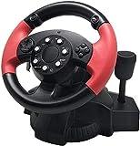 LILIS Racing Wheel,Volante para Juegos de Ordenador Volante de Carreras, Juego de Ordenador de dirección de la Rueda de simulación de Carreras de simulación de conducción Escuela de Coche de la Ayuda