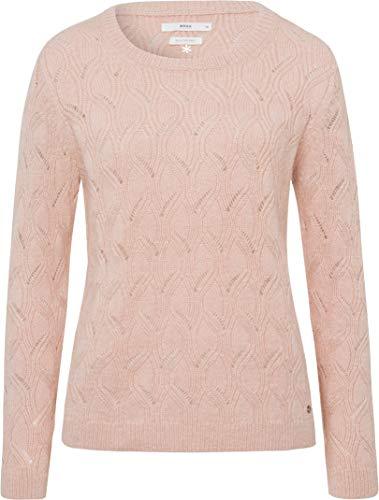 BRAX Damen Style Lisa Rundhals Pullover, Frozen Rose, (Herstellergröße: 36)