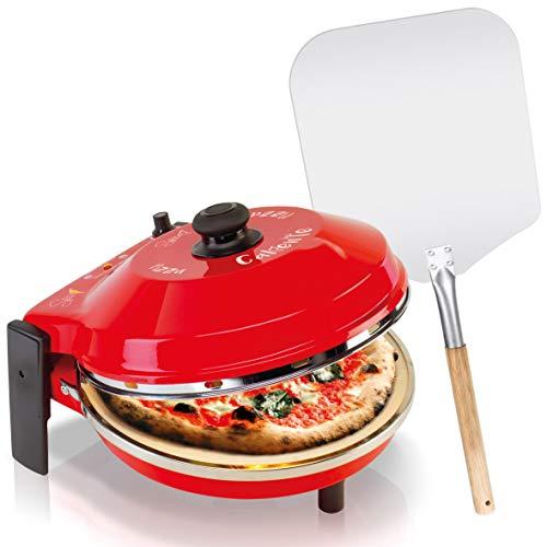 SPICE - Horno pizza Caliente con piedra refractaria 400 grados Resistencia circular (horno + pala).