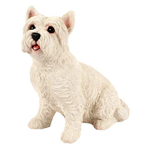 Westie Ornament Home Décor Garden West Highland Terrier Dog Statue Figurine Lawn Patio Indoor Or Outdoor Decor Frost Proof Weatherproof 25cm