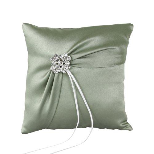 Ivy Lane Design Garbo Collection Wedding Ring Pillow, Sage Green