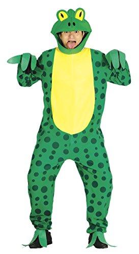 Guirca- Disfraz adulto rana, Color verde, Talla 52-54 (84498.0)