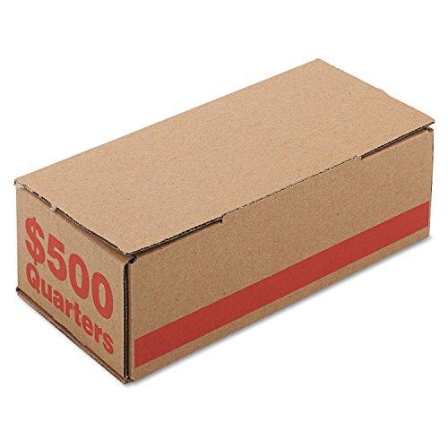 PM Company 61025 Corrugated Cardboard Coin Storage w/Denomination Printed on Side, Orange
