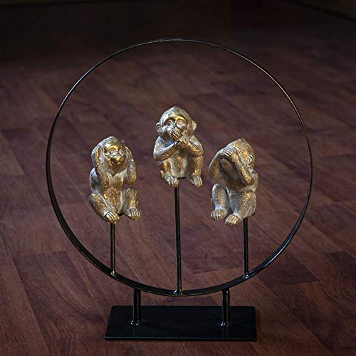 Pacific Giftware See Hear Speak No Evil Monkeys Resin Figurine with Stand