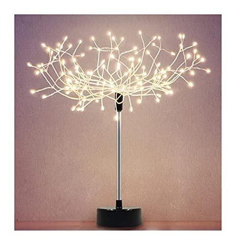 FYRYX Pequeña Noche luz decoración Creativa árbol Fiesta decoración de cumpleaños atmósfera romántica Mesa lámpara (Color : A)