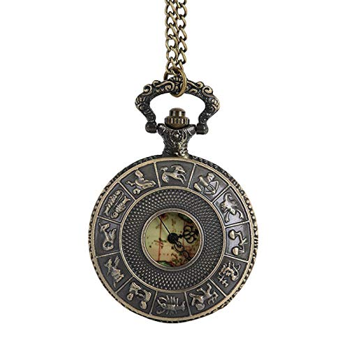 Reloj de Bolsillo pequeño de Cuarzo con Esfera Redonda Vintage, Collar para Abuelo, papá, Cadena Vintage, Retro, el Mejor relogio de Bolso, Regalos, como se Muestra