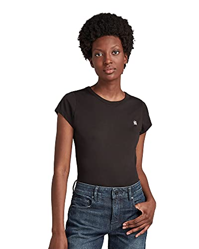G-STAR RAW Eyben Slim T-Shirt, Schwarz (Black 2757-990), S para Mujer