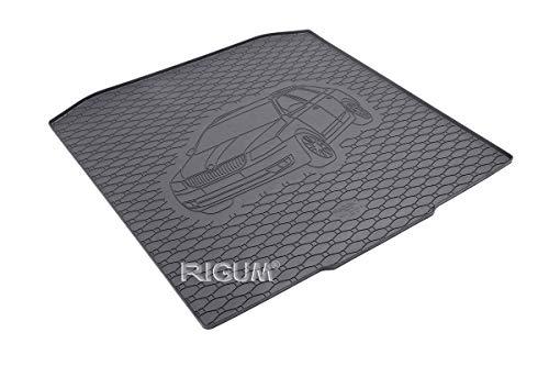 RIGUM Passgenaue Kofferraumwanne geeignet für Skoda Octavia III Kombi ab 2013 + Autoschoner MONTEUR