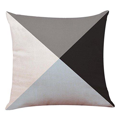 Fundas De Cojines, Xinantime Decoración del hogar Fundas de colchón Funda de almohada geométrica simple 45cm x 45cm (I)