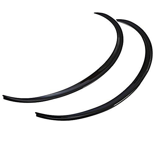 Hemore 2 unids Fibra De Carbono Fender Flares Pegatinas Tiras de Labios Ruedas Ceja Decoración Longitud 72 cm Negro para Mujeres Hombres Jovenes