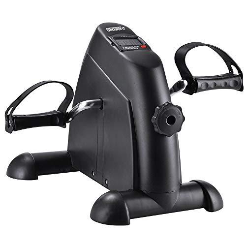 ONETWOFIT Mini Bike Heimtrainer, Arm und Beintrainer, Pedaltrainer Bewegungstrainer mit mit LED Display, Einstellbarer Widerstand Heimfahrrad Trainingsgerät für Büro OT068